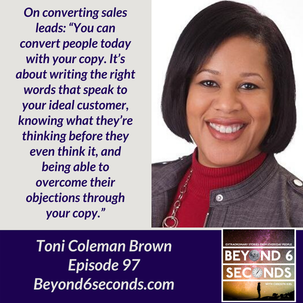 Episode 97: How Email Marketing Elevates Women in Business -- with Toni Coleman Brown Image