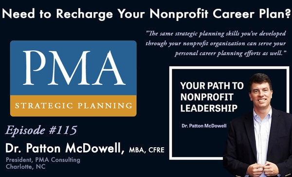 115: Need to Recharge Your Nonprofit Career Plan? (Patton McDowell) Image