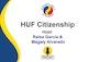 HUF Citizenship Podcast Album Art