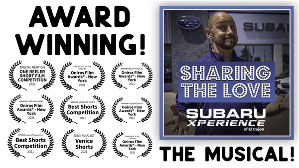 SHARING THE LOVE- THE AWARD WINNING MUSICAL CREATED BY A (WAIT FOR IT) CAR DEALER Image