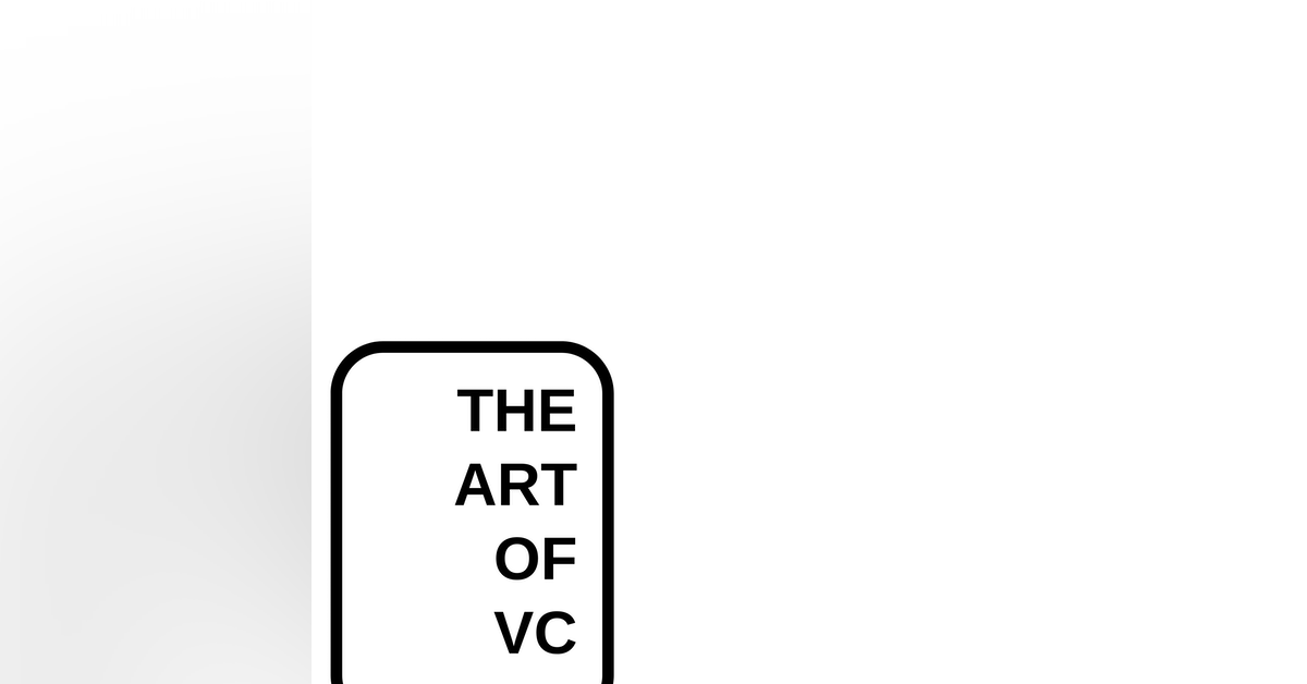 The Art of VC Newsletter Signup