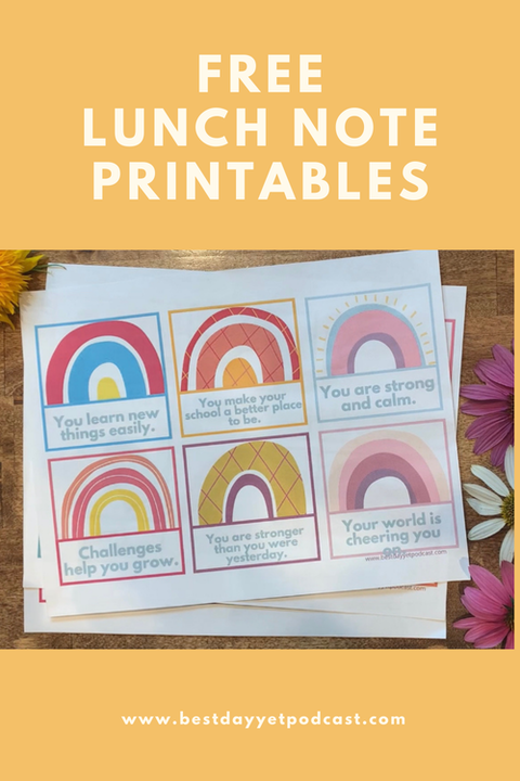 Free Printable Affirmation Lunch Cards