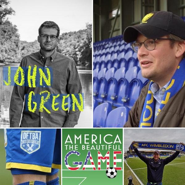 Matchday 12 - John Green, author, Liverpool fan, AFC Wimbledon owner Image