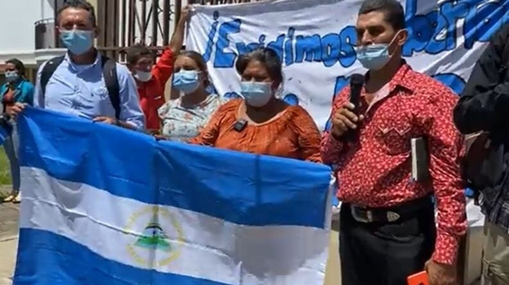 Movimiento Campesino realiza plantón en la sede de la OEA en Costa Rica