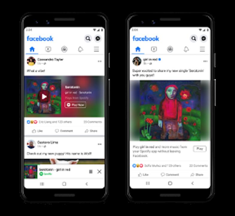 Ya podemos escuchar las canciones completas de Spotify en Facebook