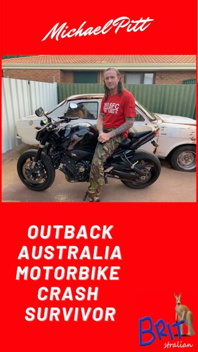 7: Outback Australia Motorcycle Crash Survivor Image