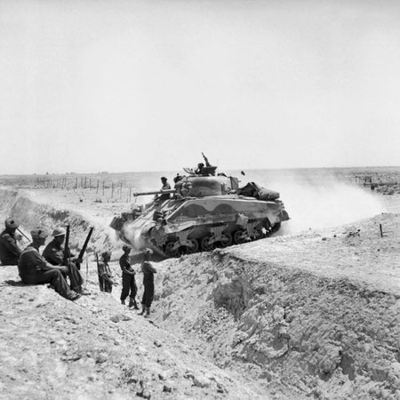 2  North Africa WW2 - The Battle of the Wadi Akarit in Tunisia Image