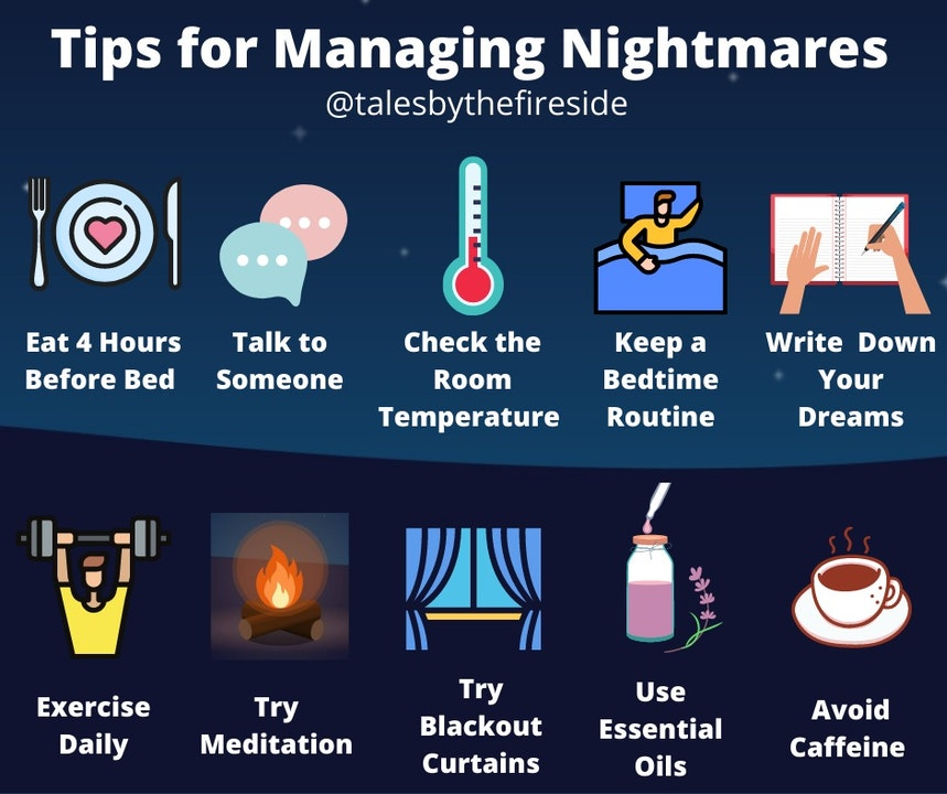 10 Tips to Help you Manage Nightmares