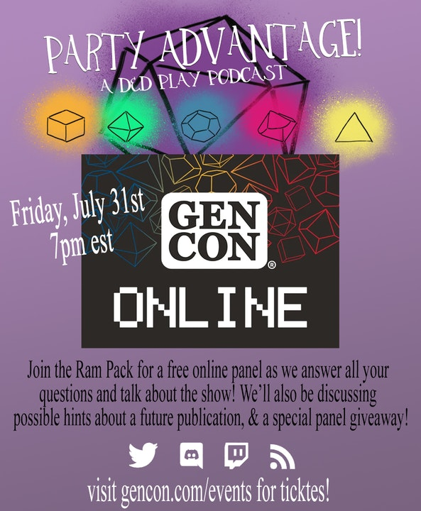 Join us at GenCon Online!!