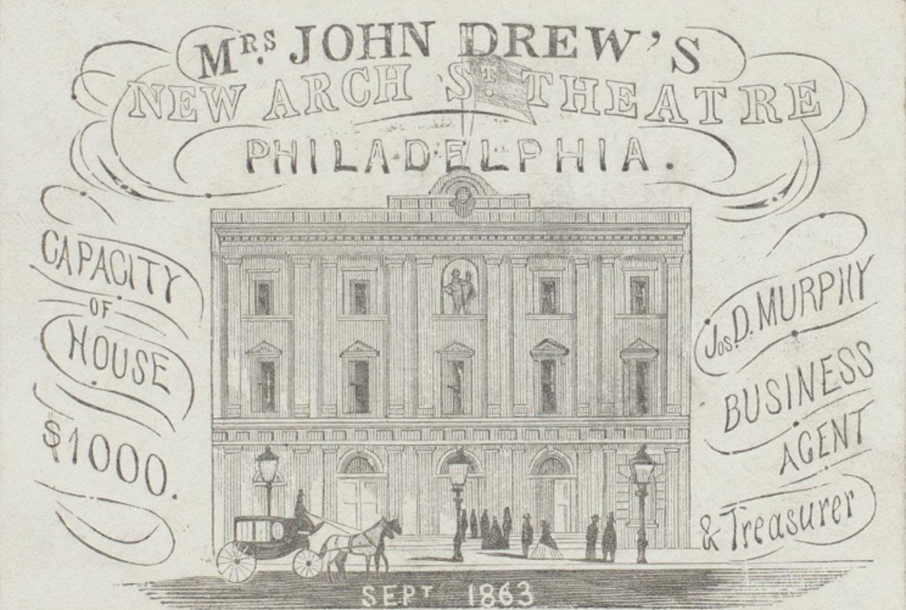 Mrs. John Drew's Arch Street Theatre - Blog Post and Bibliography for Episode 19