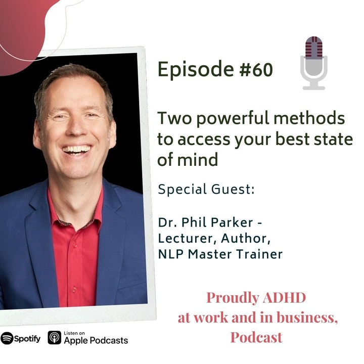 #60: Two powerful methods to access your best state of mind   Guest Dr. Phil Parker