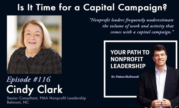 116: Is It Time for a Capital Campaign? (Cindy Clark) Image