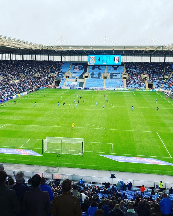 Total Cov Blog #12 - Coventry City 4-1 Fulham 02.10.2021.