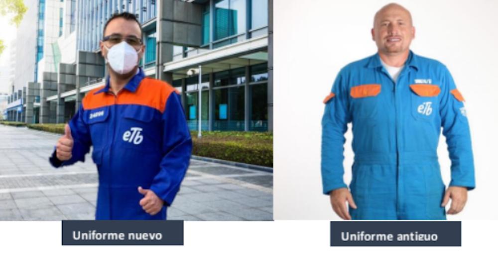 ETB cambia el azul de sus uniformes