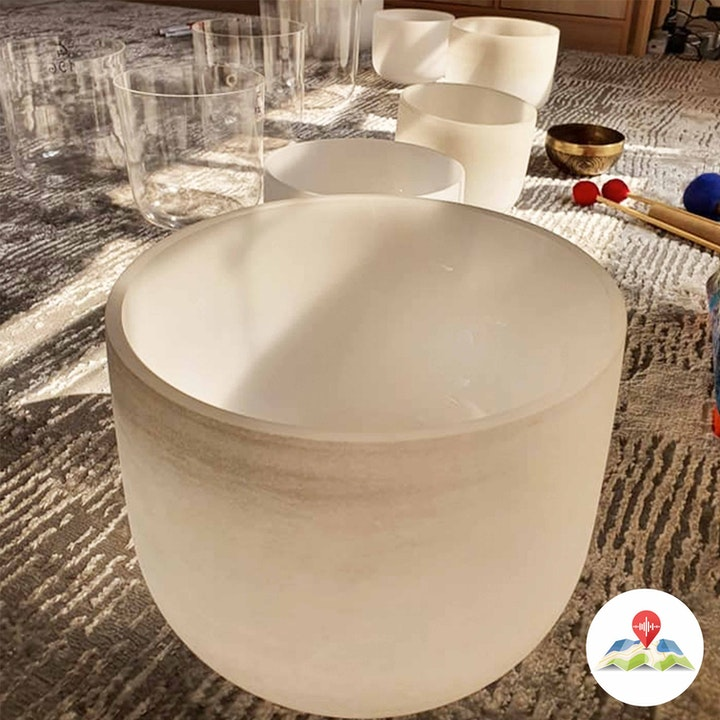 227977 Frosted Crystal Singing Bowls