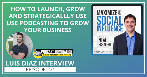 221: How to Launch, Grow and Strategically Use Podcasting to Grow Your Business [Luis Diaz Interview] Image