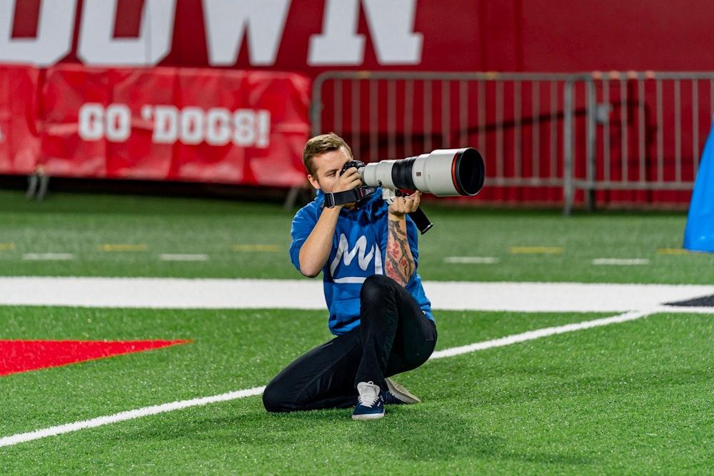 Sports photographer Andrew Wevers