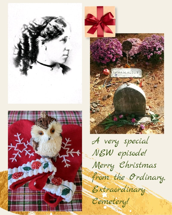 Episode 12 - Tilly's Christmas & Louisa May Alcott's grave in Sleepy Hollow Cemetery, Concord, Massachusetts Image