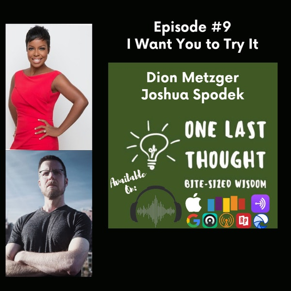 I Want You to Try It - Dion Metzger, Joshua Spodek - Episode 09