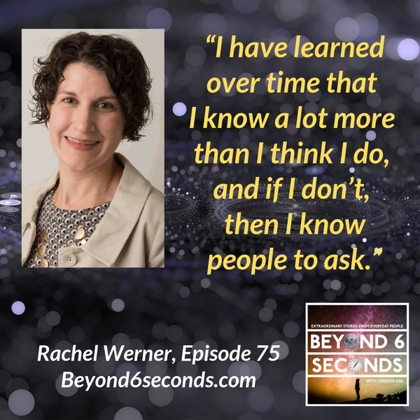 Episode 75: Rachel Werner – Consulting, Motherhood and Entrepreneurship Image