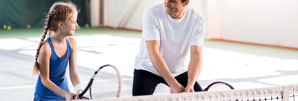 Equipment for a beginner tennis player