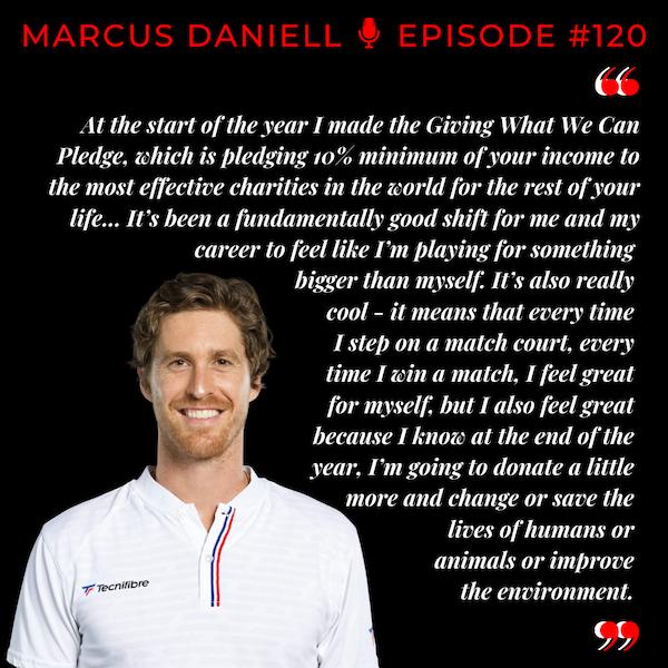 Episode 120: Marcus Daniell - An Impact Greater than Tennis