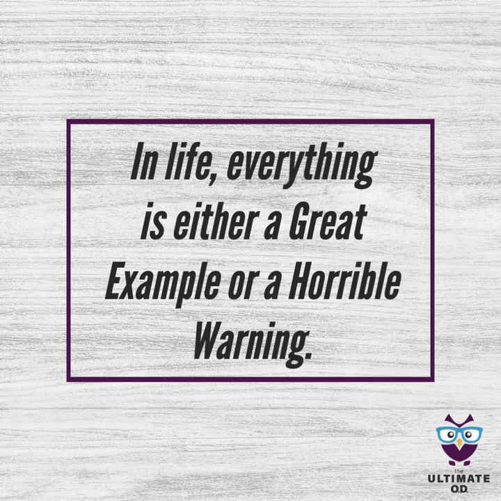 Closing Thought of the Week: Great Example or a Horrible Warning - E38