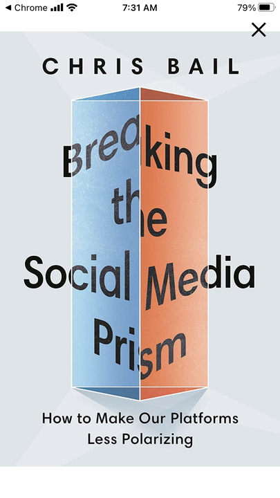 Social Media Profiles: the real, the fake and the extreme. In conversation with Professor Chris Bail of Duke University.