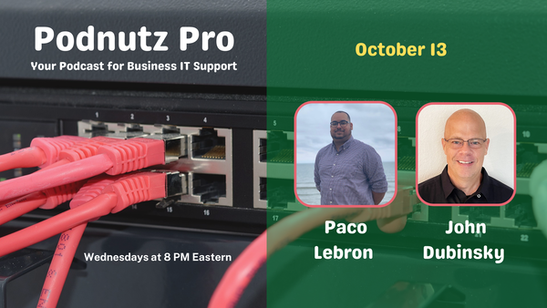 Podnutz Pro #365: Techcon and Solo Tech Talk