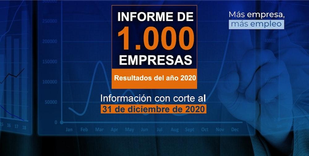 Supersociedades presenta el informe de las 1.000 empresas más grandes del país
