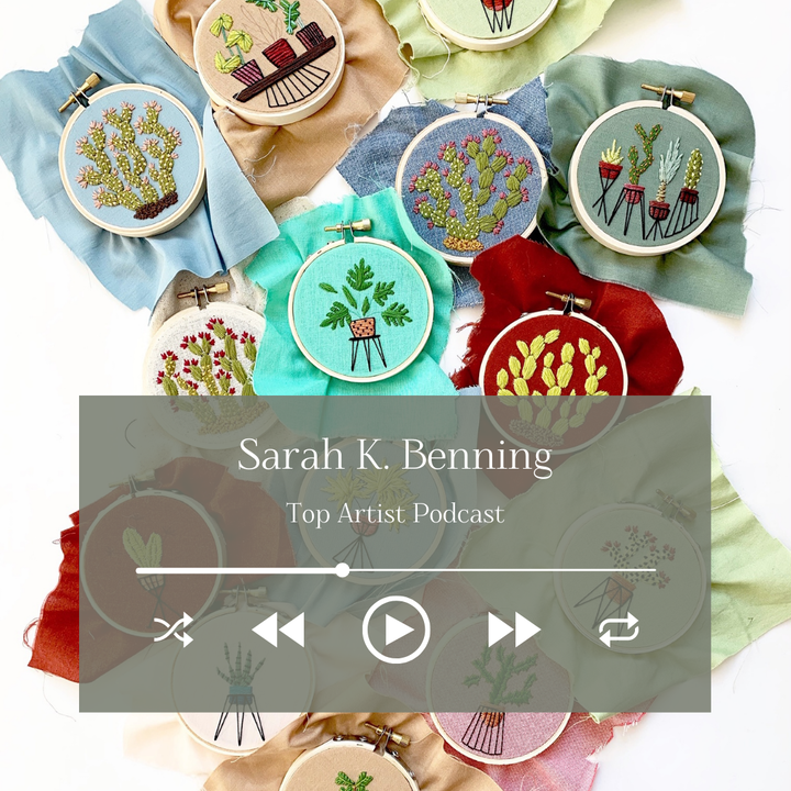 Embroidery Artist Sarah K. Benning on Her Vivid Floral Pieces and Growing as an Artist