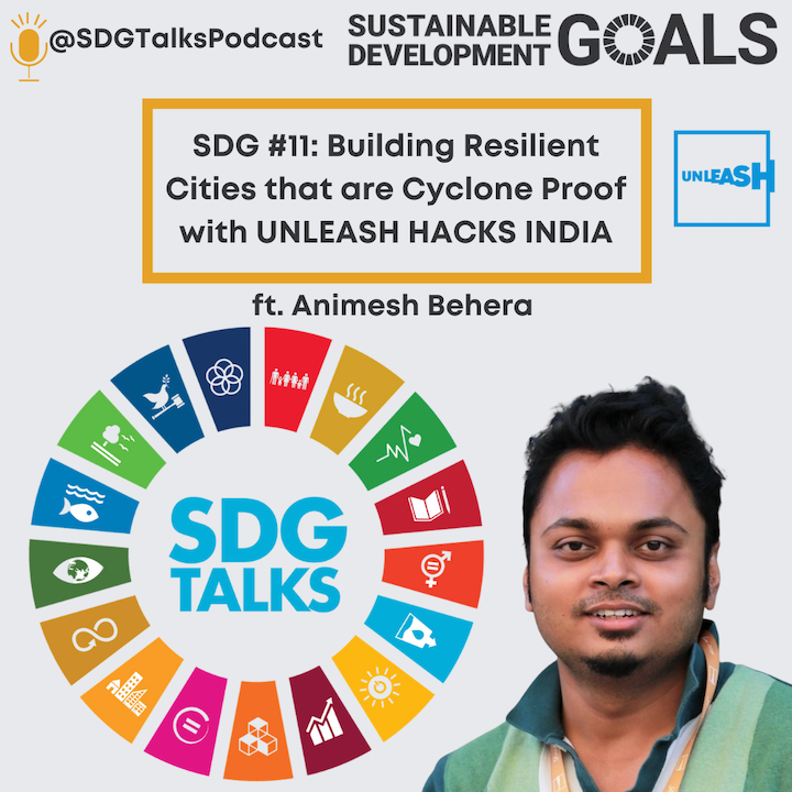 Episode image for SDG #11: Building Resilient Cities that are Cyclone Proof in the UNLEASH HACKS INDIA with Animesh Behera