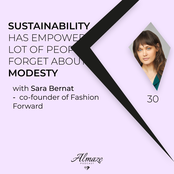 """#30 """"Sustainability has empowered a lot of people to forget about modesty"""" - Sara Bernat Image"""