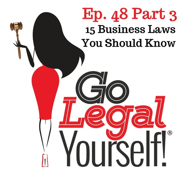Ep. 48 Part 3 Fifteen Business Laws You Should Know