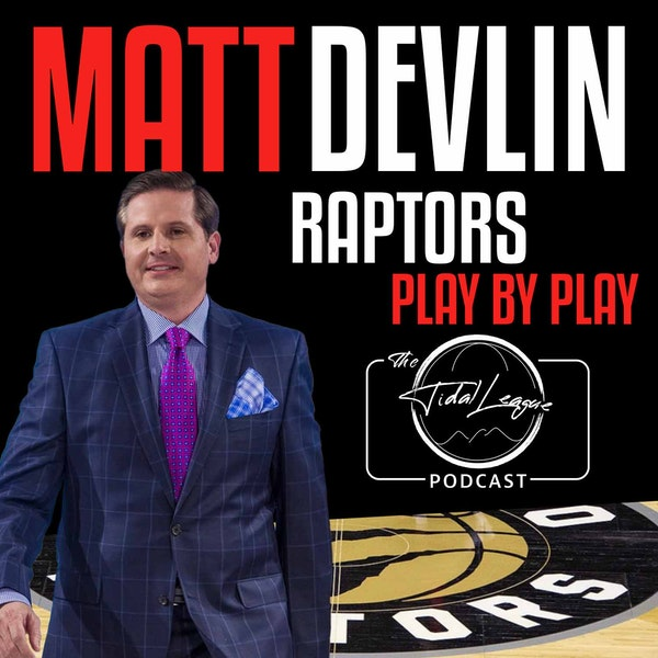 The voice of the Toronto Raptors Matt Devlin aka Matty D
