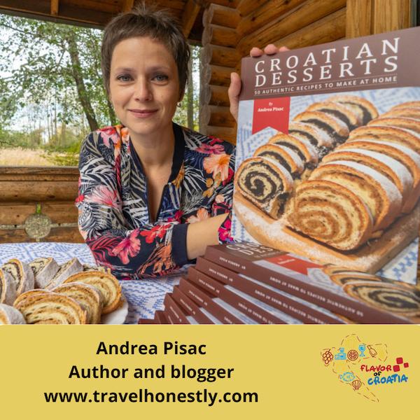Andrea Pisac- Author of Croatian Desserts Cookbook