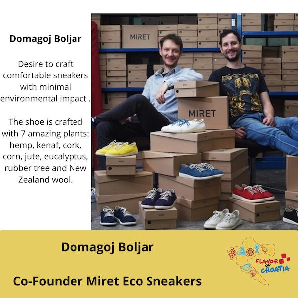 Domagoj Boljar- Co-Founder of Miret Eco Sneaker Co