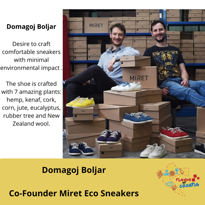 Domagoj Boljar- Co-Founder of Miret Eco Sneaker Co