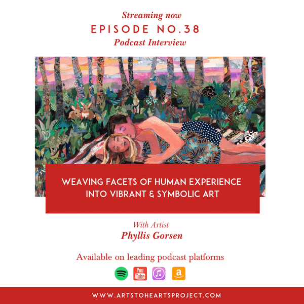 Weaving facets of human experience into vibrant & symbolic art with Artist Phyllis Gorsen Image