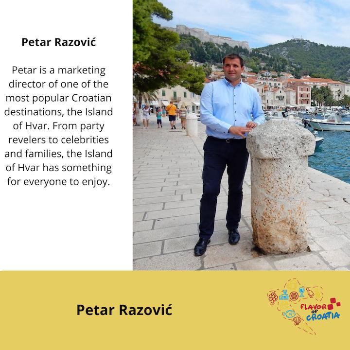 Petar Razović - director of the Hvar, Croatia Tourist Board.