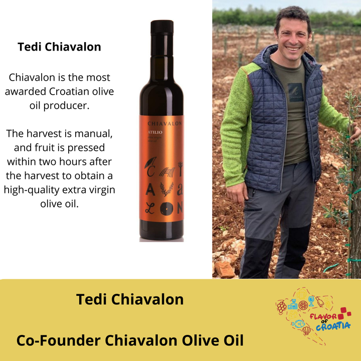 Tedi Chiavalon- Cofounder Chiavalon Olive Oil.