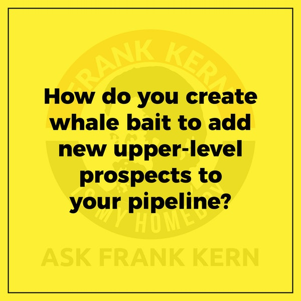 How do you create whale bait to add new upper-level prospects to your pipeline? - Frank Kern Greatest Hit Image