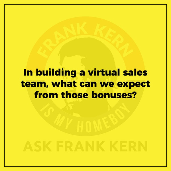 In building a virtual sales team, what can we expect from those bonuses? Image