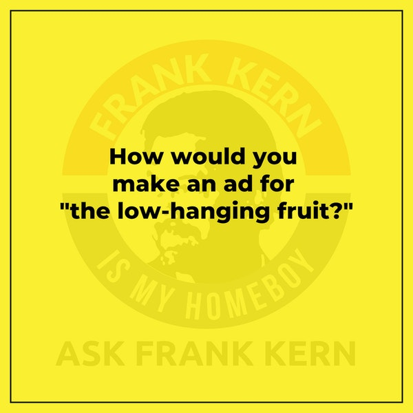 """How would you make an ad for """"the low-hanging fruit?"""" Image"""