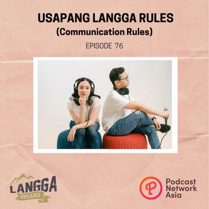 LSP 76: Usapang Langga Rules (Communication Rules)