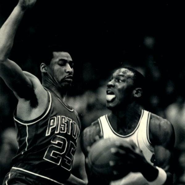 NB85-19: Michael Jordan's rookie NBA season - Bulls at 76ers (Feb 1), vs Pistons (Feb 12) - 1985 Image