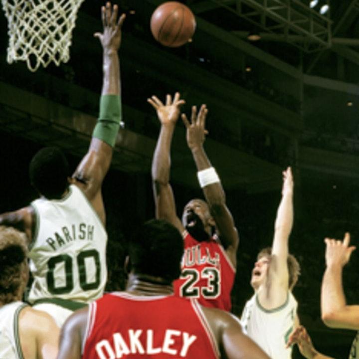 Michael Jordan's second NBA season - 1986 Playoffs through Finals - NB86-14