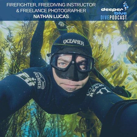 Firefighter and Freediver Nathan Lucas on how fire shapes water, and Sophie Morgan on the best free underwater film school in the world. Image