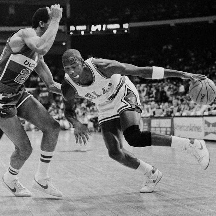 Michael Jordan's rookie NBA season - MJ's Chicago Bulls regular-season debut - October 26, 1984 - NB85-6