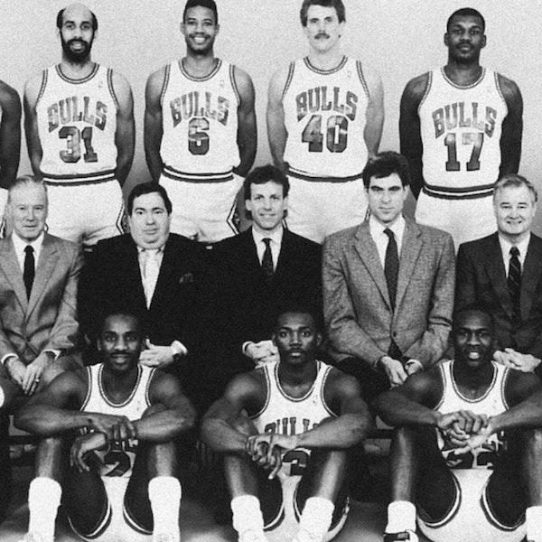 Michael Jordan's fourth NBA season - pre-draft / 1987 Draft, 1987-88 Bulls training camp and preseason games - NB88-1 Image